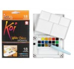 Koi couleurs Pocket champ Sketch case-18 aquarelles