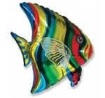 Ballon Mylar Poisson Tropical Non Gonflé