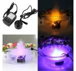 upxiang Water Fogger 12 LED Mist Maker Air Humidifier Atomiseur Fountain Pond Fog Machine  Included AC DC Adaptateur