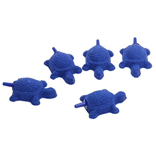 WINOMO 5pcs Tortue Forme de Diffuseur Aérateur pour Aquarium (Bleu) Reviews