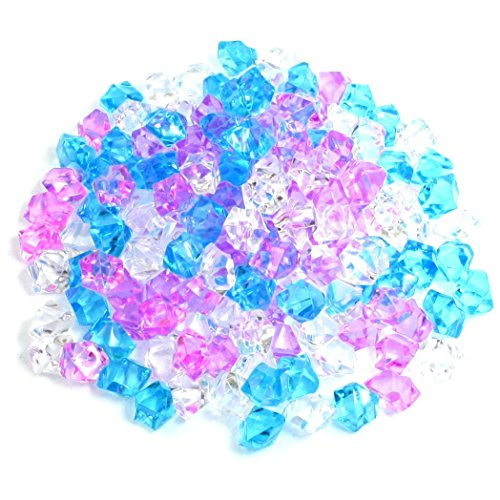 SODIAL(R) Plastique pierre Decoration d'aquarium, 150 Pieces, Bleu / rose / blanc