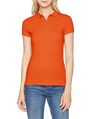 Tommy Hilfiger New Chiara STR Pq Polo SS Orange (Koi 831), Large (Taille Fabricant: LG) Femme Reviews
