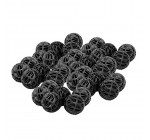 Anself 100pcs 18mm balle biologique Bio Balls Aquarium Fish Nano réservoir humide / sec filtre à cartouche Noir Reviews