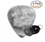Chinese Mountains Fog Waterfall And Small Houses Stylish Celluloid Guitar Picks Plectrums For Guitar Bass .6 Pack 71mm