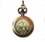 Vintage Grenouille orchestre en étang montre de poche Collier Reviews